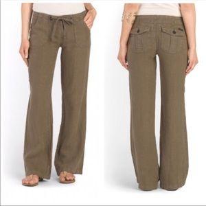 Sanctuary Beachcomber 100% Linen Pants in Gray